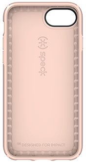 Rose Gold Speck Presidio Metallic  - iPhone 6/6s/7/8 Case Front View