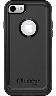 Black Otterbox iPhone 7 Commuter Case Back View