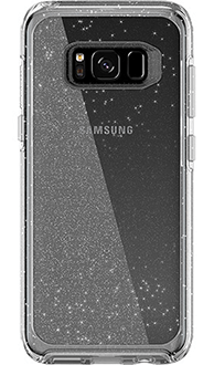 Silver Flake Otterbox Galaxy S8 Symmetry Case Back View