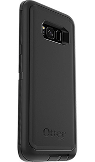 Black Otterbox Galaxy S8 Plus Defender Case Angled Back View