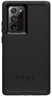 Black OtterBox Galaxy Note20 Ultra 5G Defender Case from the Back