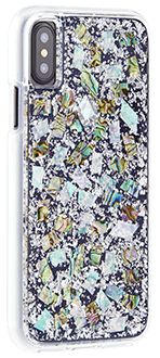 Mother of Pearl Case-Mate Karat - iPhone X Case Angled View