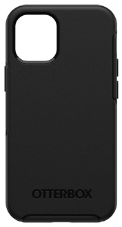 Black OtterBox iPhone 12 Mini Symmetry Case from the Back
