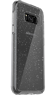 Silver Flake Otterbox Galaxy S8 Plus Symmetry Case Angled Back View