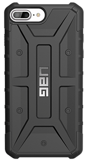 Black UAG Pathfinder - iPhone 6 Plus/6s Plus/7 Plus/8 Plus Case Back View