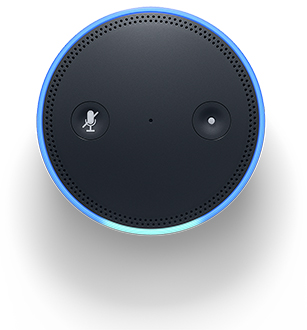 Black Amazon Echo Plus Top View