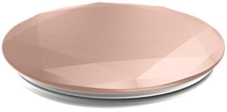 Rose Gold Metallic Diamond PopSocket Compressed