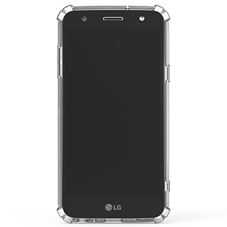 Clear PureGear Hard Shell - LG X Power 2 Case Angled View