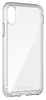 Clear Tech 21 Pure Clear - iPhone X Case Angled View