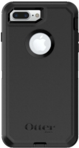 Black Otterbox iPhone 8 Plus Defender Case Back View