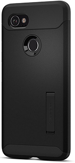 Black Spigen Slim Armor - Pixel 2 XL Case Back View