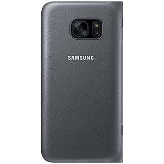Black Samsung LED  View Cover - Galaxy S7 Case Back View