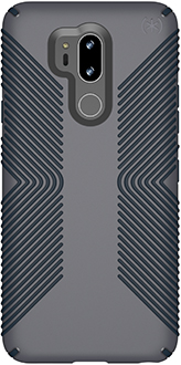 Graphite Grey Speck Presidio Grip LG G7 Case Back