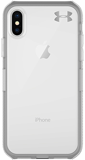Clear Under Armour Protect Verge - iPhone X Case Back View