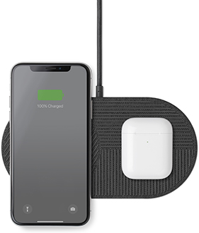 Slate Native Union Drop XL Charger Charging iPhone and AirPods