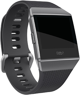 Charcoal/Smoke Grey Fitbit Ionic Watch Front View