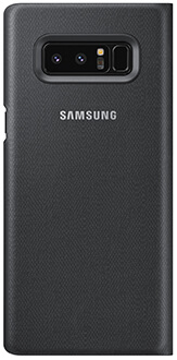 Black Samsung Note8 LED View Cover Back View