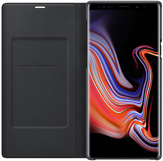 Open Black Samsung Galaxy Note9 LED Cover