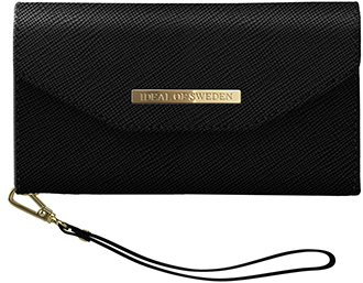 Black iDeal of Sweden Mayfair Clutch iPhone 6/6s/7/8 Wallet Case Front