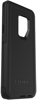 Black OtterBox Galaxy S9+ Commuter Case Angled View