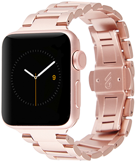Rose Gold Case-Mate 38mm Apple Watch Band Angled View