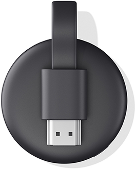 Charcoal Google Chromecast Back