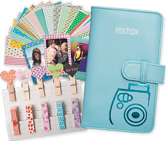 Blue Instax Mini Essentials Kit