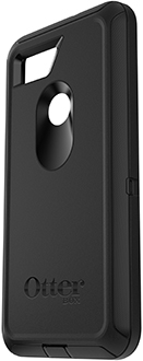 Black OtterBox Pixel 2 XL Defender Case Angled Back View