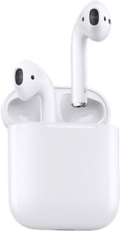 White Apple AirPods with Case