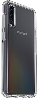 Angled Clear OtterBox Galaxy A50 Symmetry Case Back
