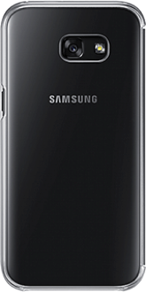 Black Samsung Clear View Cover - Galaxy A5 Back View