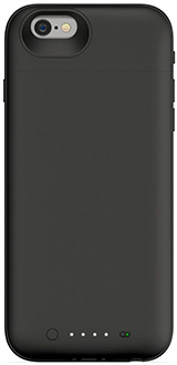 Black Mophie Juice Pack Air - Apple iPhone 6/6S - Front View
