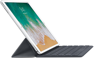 Grey Smart Keyboard for iPad Pro 10.5-inch Angled View
