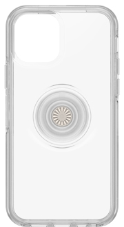 Clear Otter + Pop Symmetry iPhone 12 and 12 Pro Case from the Back