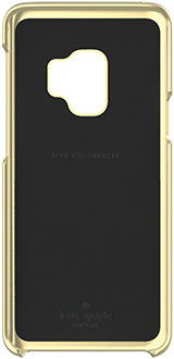 Saffiano Black kate spade Galaxy S9 Wrap Case Front