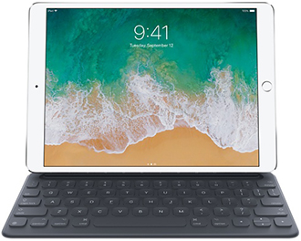 Grey Smart Keyboard for for iPad 7th Generation, Pro 10.5-inch, Air 3rd Generation Front View Front View