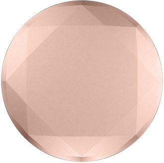Rose Gold Metallic Diamond PopSocket Front