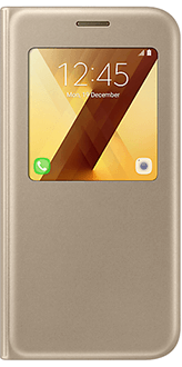 Gold Samsung S View Standing Cover - Galaxy A5 Front View