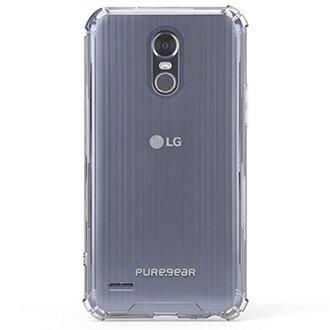 Clear PureGear Hard Shell - LG Stylo 3 Case Back View
