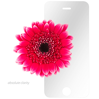 Clear Moshi Airfoil Glass - iPhone 5/5S/5C/SE Screen Protector Front View with Flower
