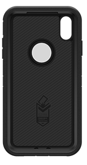 Black OtterBox iPhone Xs Max Defender Case Front