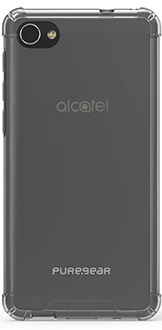 Clear PureGear Hard Shell - Alcatel A50 Case Back View