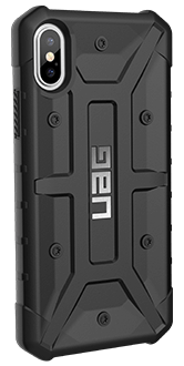 Black UAG Pathfinder - iPhone X Case Angled View