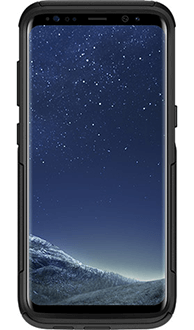 Black Otterbox Galaxy S8 Commuter Case Front View