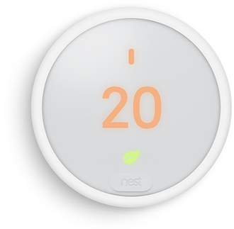 White Nest Thermostat E Front View