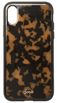 Brown Sonix Tort Luxe - iPhone X Case Back View