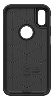 Black OtterBox iPhone XR Commuter Case Front View