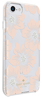 Hollyhock Floral kate spade iPhone 6/6s/7/8 Case Angled Back View