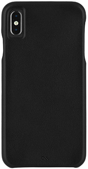 Black Case-Mate Barely There Leather iPhone Xs Max Case Back