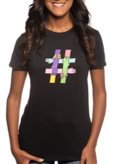 TELUS #EndBullying Women's T-shirt Black Closeup